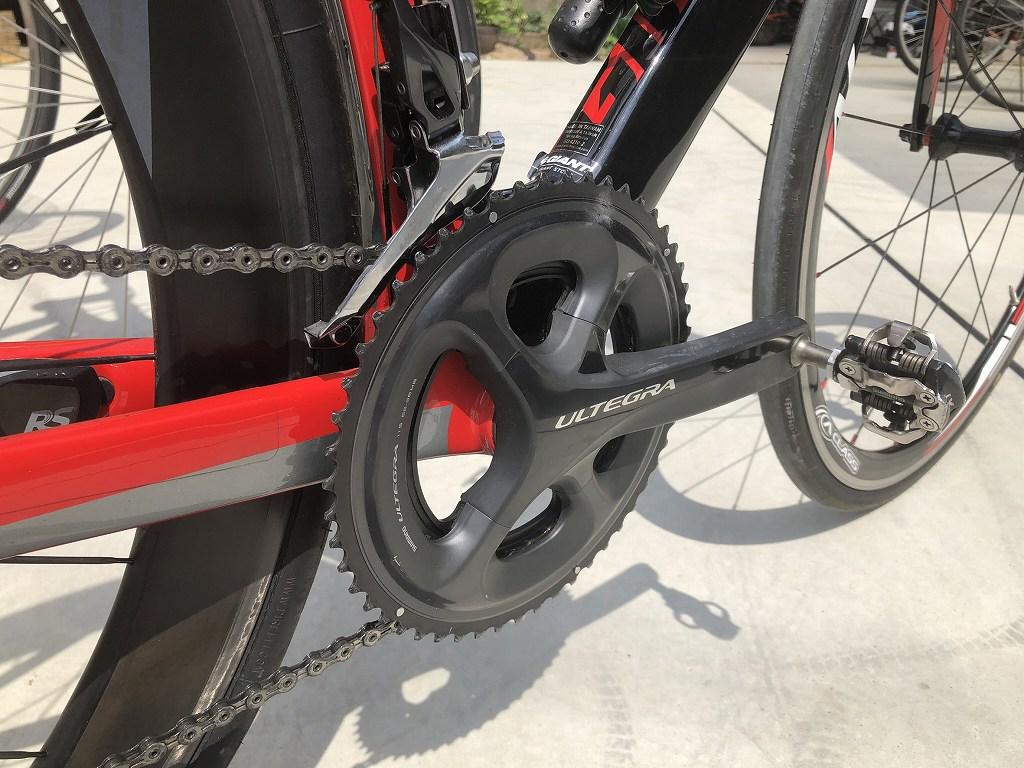 ロードバイクのクランク