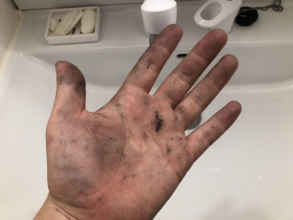 油汚れを落とす、ハンドクリーナー