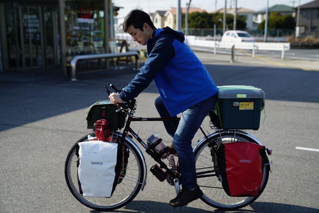 自転車旅の走行イメージ