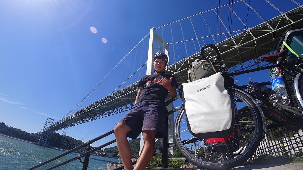 関門海峡を自転車で渡る