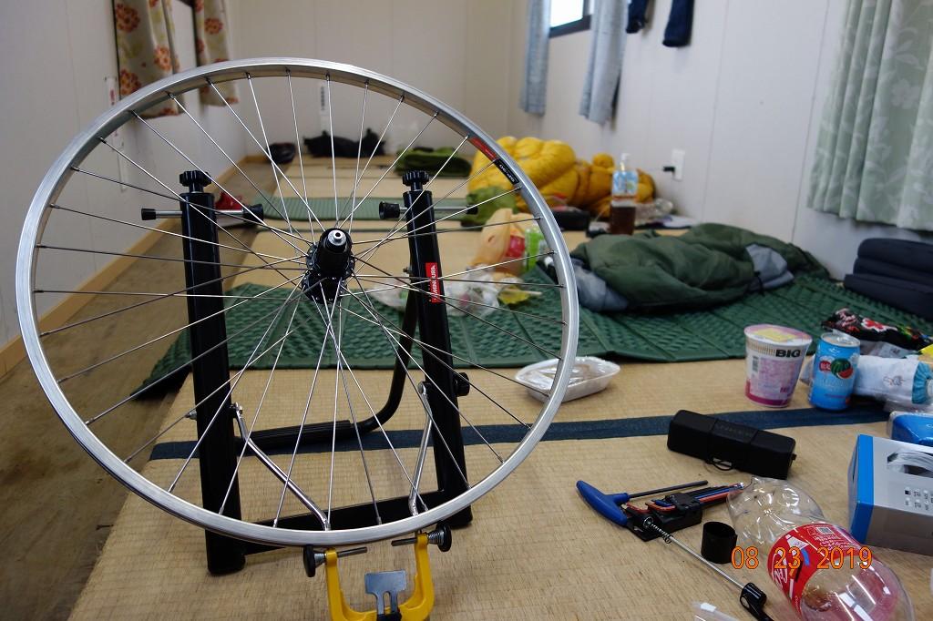 自転車の修理(ホイール組)
