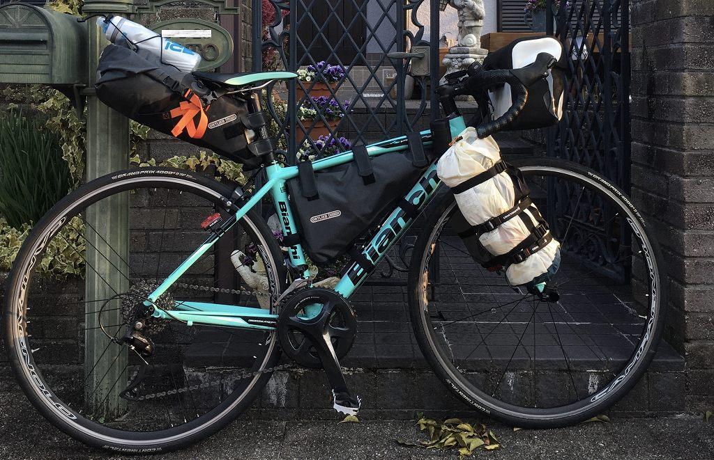 ロードバイクでバイクパッキング