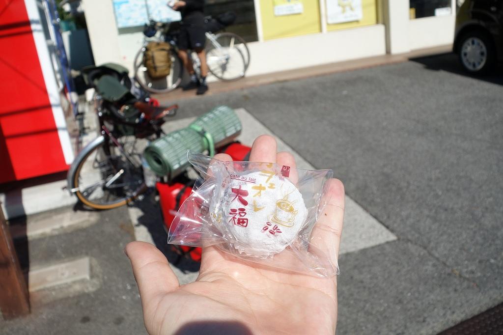 因島はっさく大福「菓子処中島」のカフェオレ大福