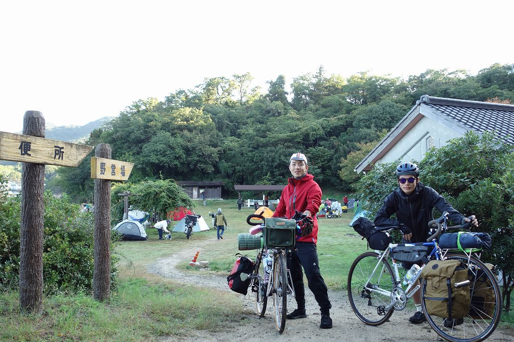 見近島キャンプ場を出発