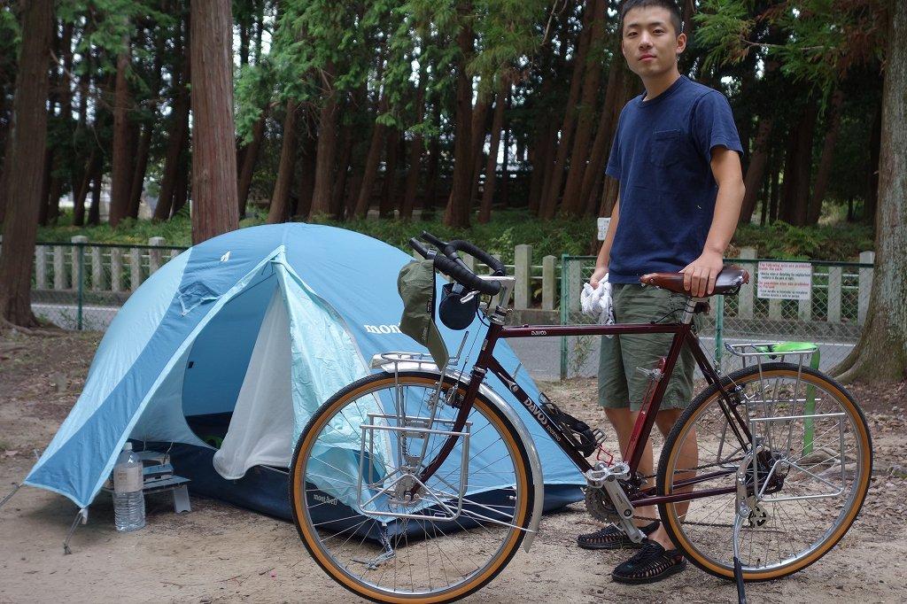 自転車でキャンプ