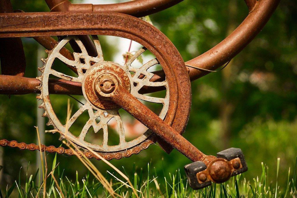 錆びてる自転車