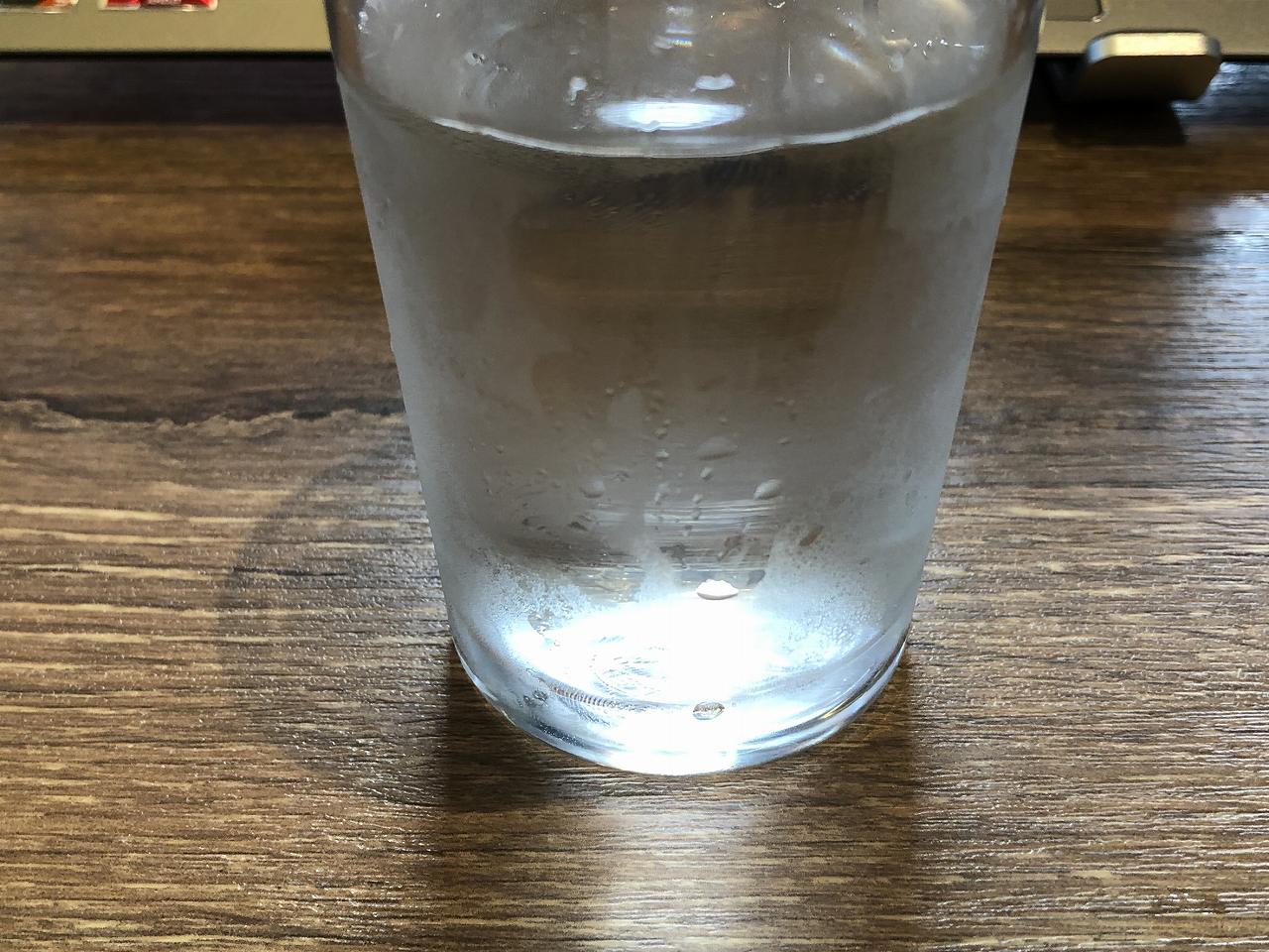結露でグラスが濡れる