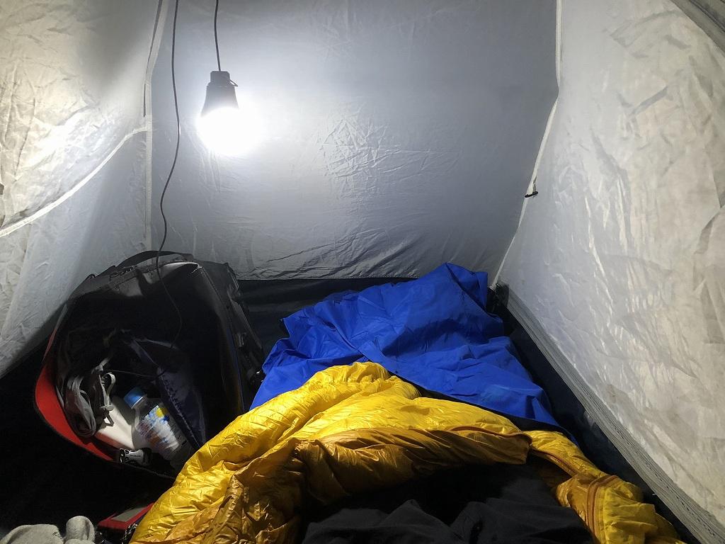 キャンプで使う軽量ランタン