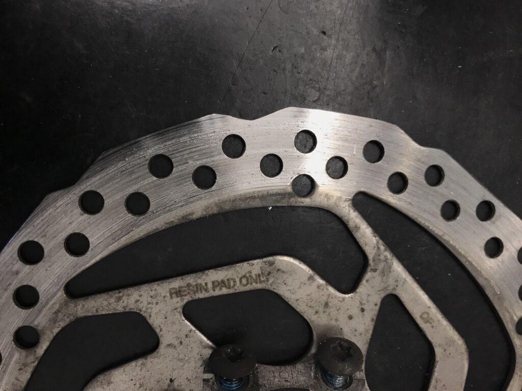 自転車のディスクブレーキローターの寿命