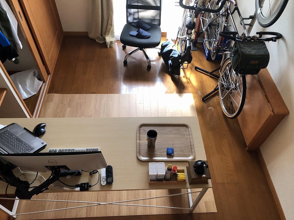 賃貸アパートに自転車を室内保管