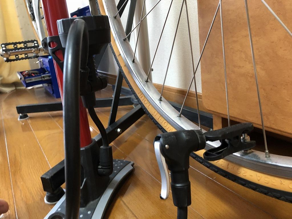 自転車の虫ゴムを交換
